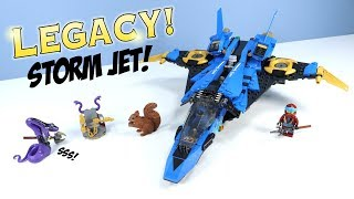 LEGO Ninjago Legacy Jay's Storm Fighter Set Build Review 70668