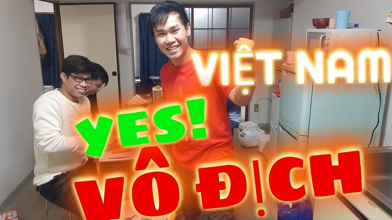 [PIN-102 Vlogs]CHUNG KẾT AFF CUP  đầu cầu Nhật Bản|| Cuộc sống Nhật||