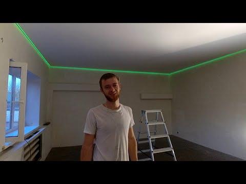Парящий натяжной потолок своими руками