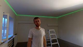 как сделать парящий натяжной потолок