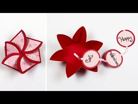 Flower Envelope Card For Valentine's Day | Handmade Valentine's Day Card  | Scrapbook Card