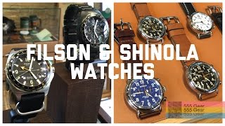 "Shinola and Filson Watches First Impressions: ""Real Watches or Hype?"""