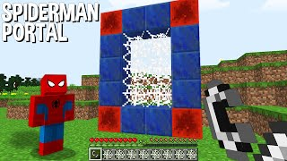 You HAVE To Build SPIDER-MAN PORTAL In Minecraft ???