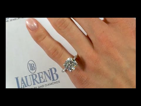4 carat round diamond engagement ring youtube. Black Bedroom Furniture Sets. Home Design Ideas