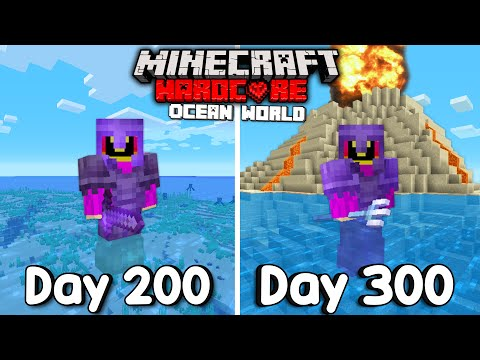 I Survived 300 Days Of Hardcore Minecraft, In an Ocean Only World. - Not PaulGG