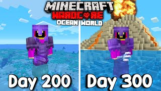 Download lagu I Survived 300 Days Of Hardcore Minecraft, In an Ocean Only World.