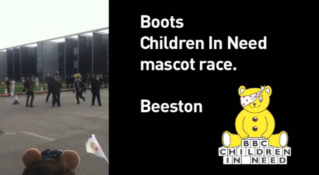 Boots Chirldren in Need Charity Mascot Race