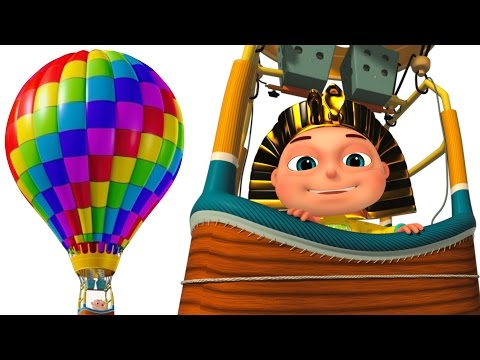 Five Little Babies In An Air Balloon | Wonders Of The World For Kids | Zool Babies Fun Songs