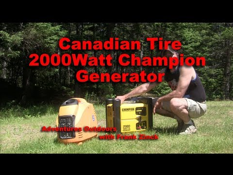Review Of Champion 2000 Watt Generator From Canadian Tire