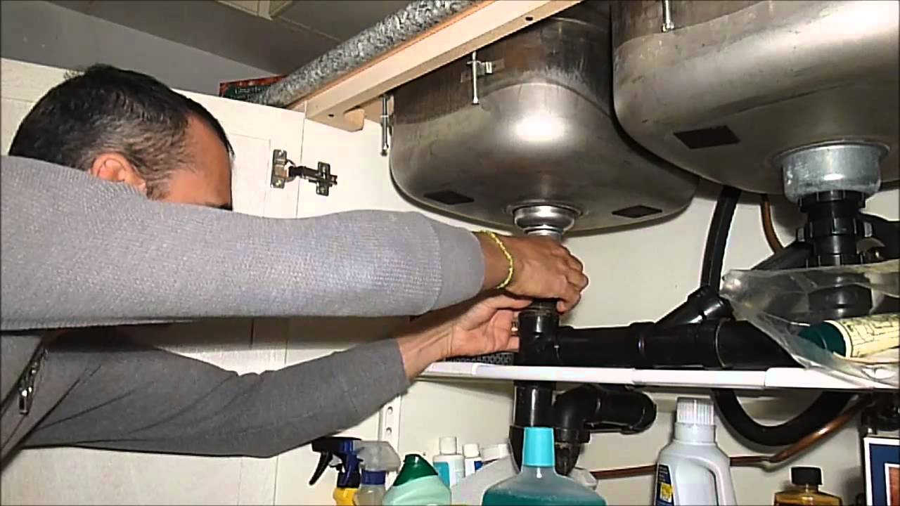 fixing the kitchen sink drain youtube rh youtube com