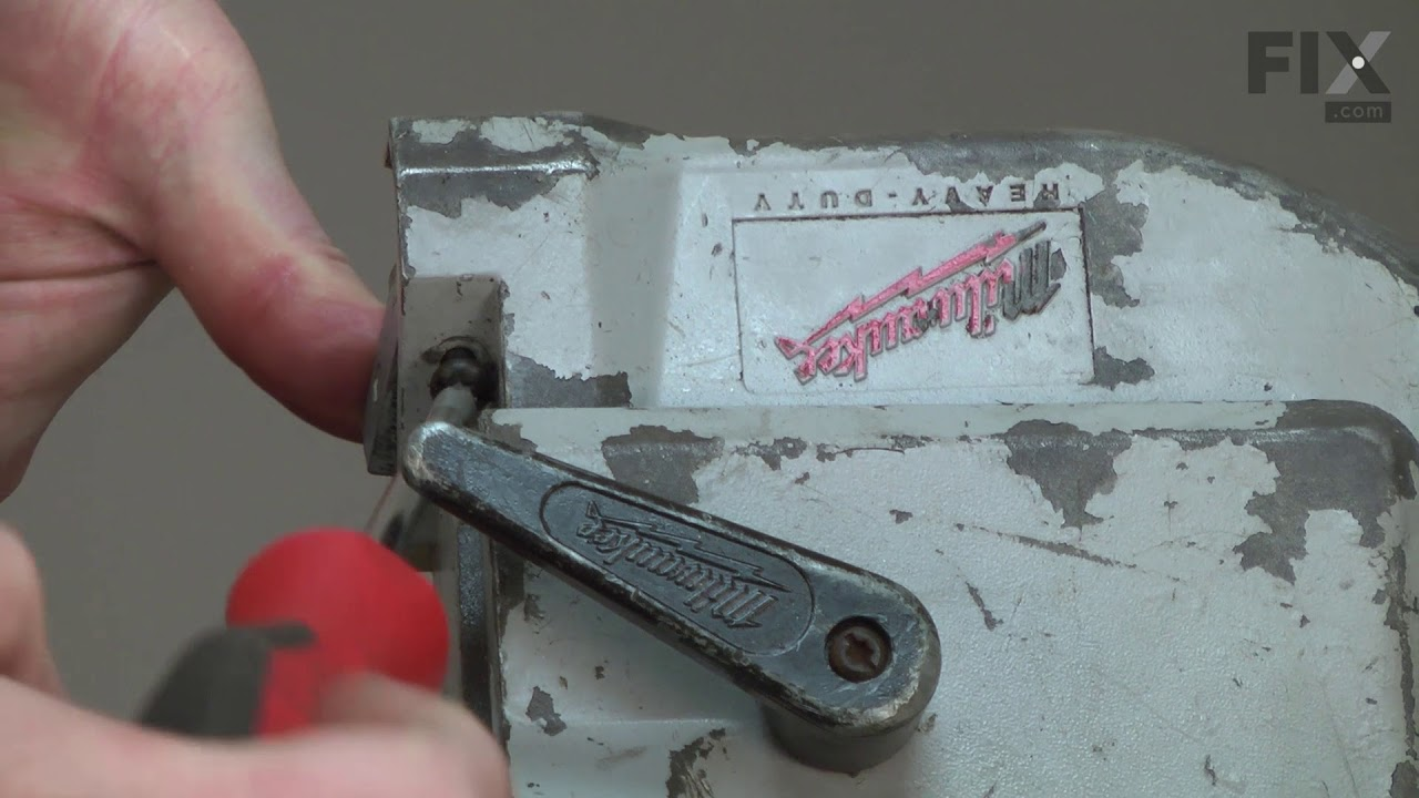 Milwaukee bandsaw repair how to replace the front blade guide milwaukee bandsaw repair how to replace the front blade guide block greentooth Image collections
