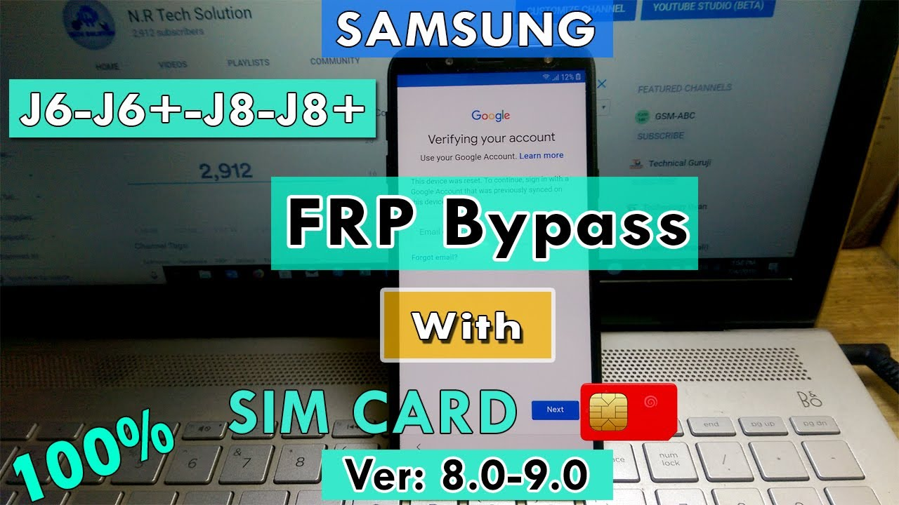 SAMSUNG Galaxy J6/J6+/J8/J8+ FRP/Google Account Bypass Android 8 1-9 0  WITHOUT PC | NO TALKBACK