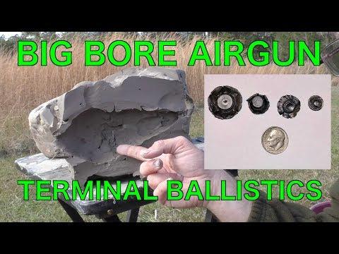 Big Bore Air Gun Testing into Ballistics Clay
