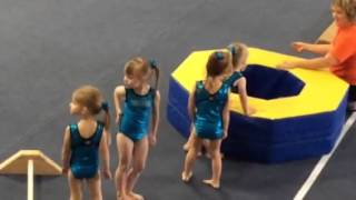 Chloe doing gymnastics