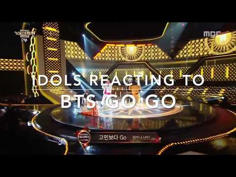 "Idols reaction BTS ""go go"" MBC gayo daejun"