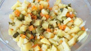 САЛАТ картофельный с солёными огурцами как в детском саду.