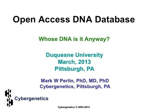 Open Access DNA Database