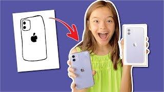 TUDO QUE ELA DESENHAR EU COMPRO! Vivi Ganhou Um Iphone 11?