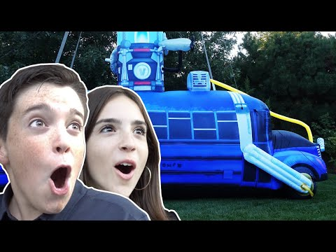 SURPRISED THEM WITH A BATTLE BUS IN REAL LIFE!!