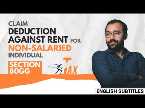 How to claim HRA deduction for non salaried individuals #shorts