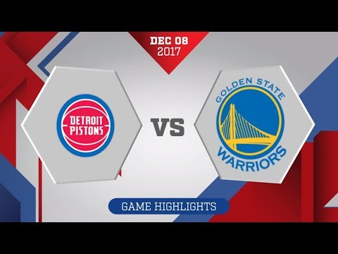 Golden State Warriors vs. Detroit Pistons - December 8, 2017