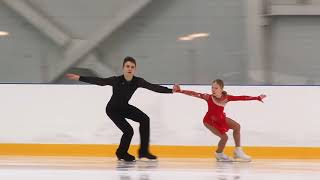 Первенство России в парном катании танц Парное катание KMC Короткая программа 1 А МУХОРТОВА Д