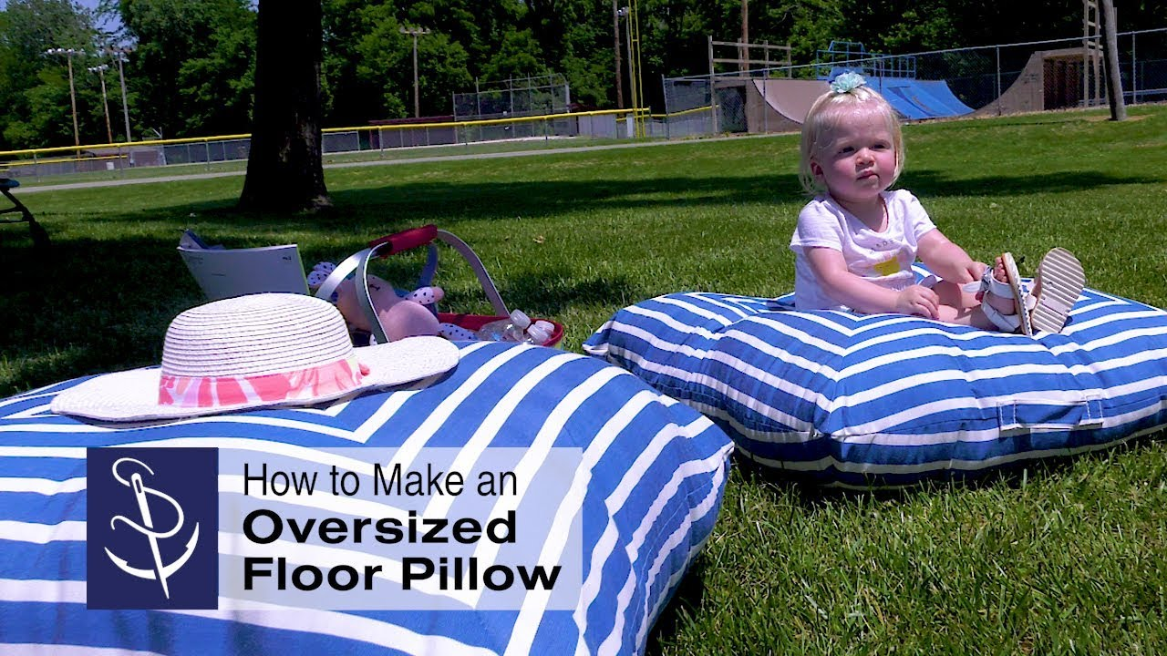 how to make an oversized floor pillow