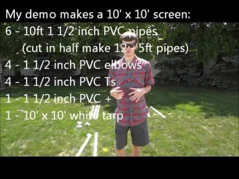 DIY: Inexpensive Indoor/Outdoor Projection Screen (How To)