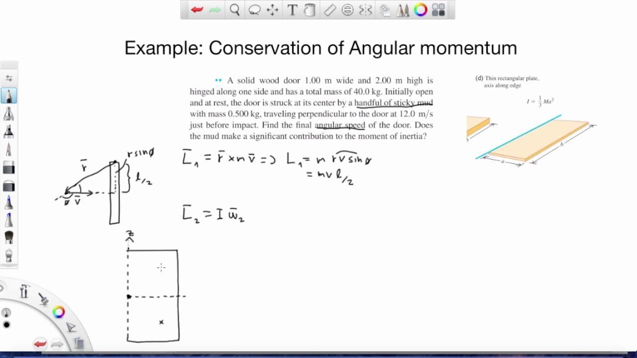Conservation Of Angular Momentum Example 1 Physics Mechanics