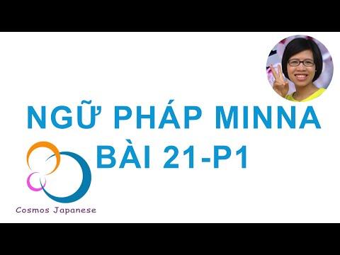Học ngữ pháp Tiếng Nhật Minna - Bài 21 - P1