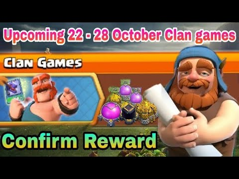 Coc Upcoming 22 - 28 October Clan Games 2019 Full Confirm Rewards - Coc October 2019 Clan Games- Coc