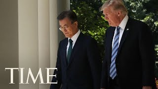 President Trump Meets With South Korean President Moon Jae-in Amid Looming North Korea Threat | TIME