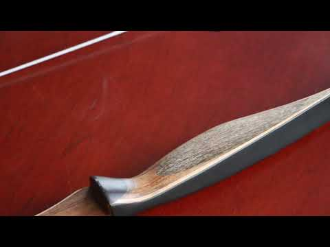 IRQ Archery Traditional Wood Recurve Bow Longbow for Hunting Targeting Right Hand 2nd video
