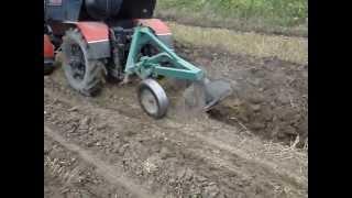 Самодельный трактор с двигателем от мерседеса 3
