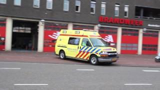 A1 Ambulance 13-122 [spelen met sirene] met spoed naar Von Zesenstraat in Amsterdam