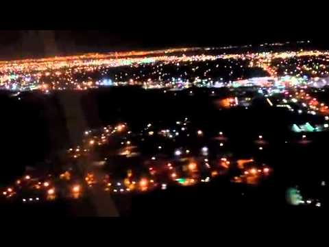 Laredo lights upon arrival at airport