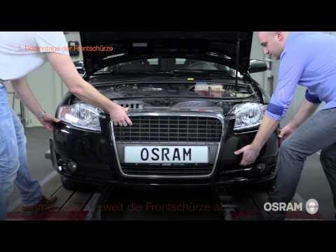 OSRAM LEDriving XENARC: Einbauanleitung für den Audi A4 B7