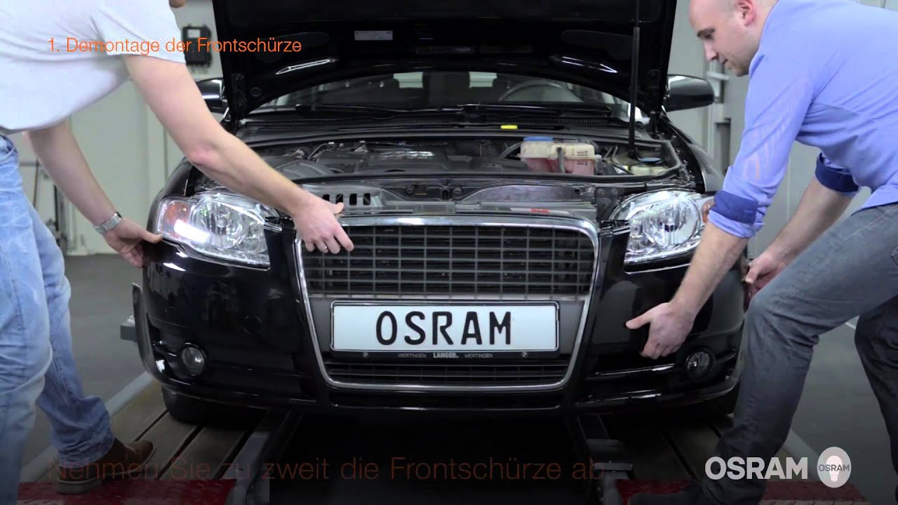 osram ledriving xenarc einbauanleitung f r den audi a4 b7. Black Bedroom Furniture Sets. Home Design Ideas