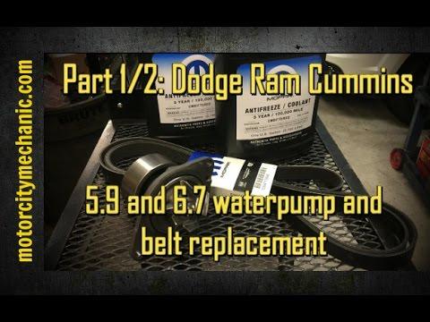 Part 1/2 Dodge Ram Cummins 59 and 67 waterpump and belt