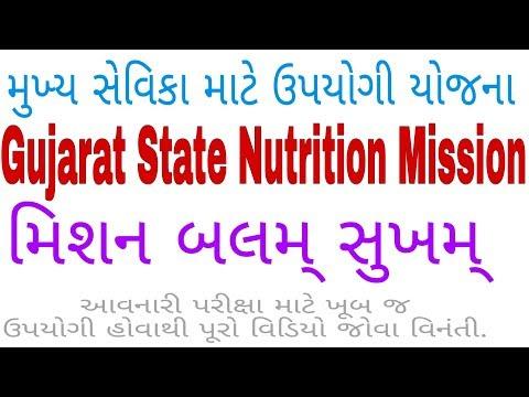 Gujarat state Nutrition Mission | મુખ્ય સેવિકા માટે ખૂબ જ ઉપયોગી યોજના | ગુજરાત સરકારની યોજના