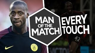 TOURE'S TWO GOAL COMEBACK! | Every Touch Yaya Toure vs Crystal Palace