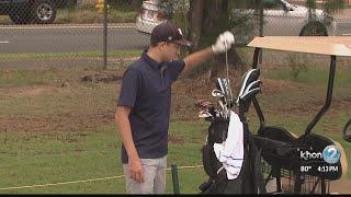 Leukemia survivor gets to play golf in Hawaii