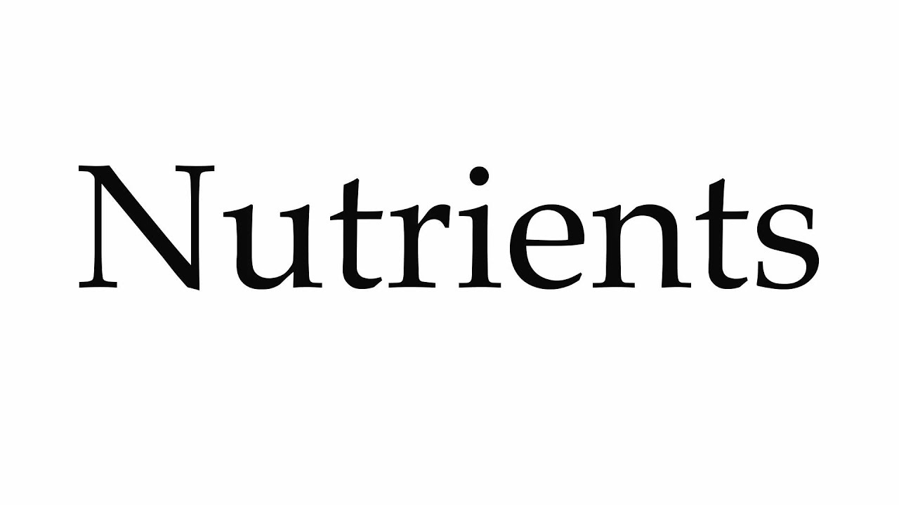 How to Pronounce Nutrients