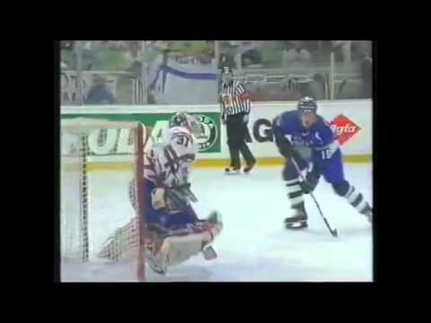 World Champioships 1996 IIHF Hockey Highlights Michel Valliere Curtis Joseph Adrei Trefilov Klaus Me