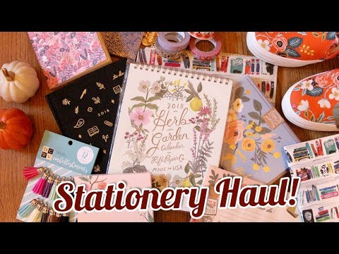 STATIONERY HAUL: Rifle Paper Co., Kate Spade, & Target