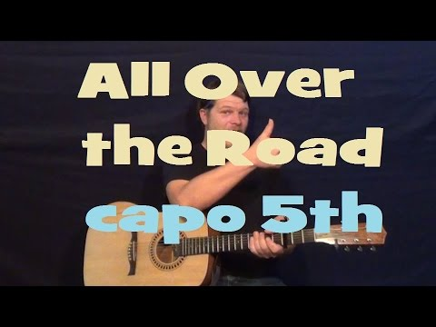 All Over the Road (Easton Corbin) Easy Strum Guitar Lesson Capo 5th Strum Chord How to Play Tutorial