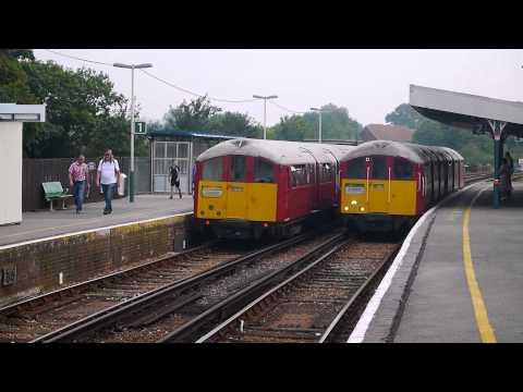1938 LT Underground stock Running on Isle of Wight Railway, Sandown & Brading, August 2013
