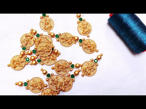 How To Make Kasu Necklace//Silk Thread Necklace//Party ware Necklace..