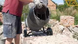 Самодельная бетономешалка # Замес раствора(, 2014-08-17T10:01:45.000Z)