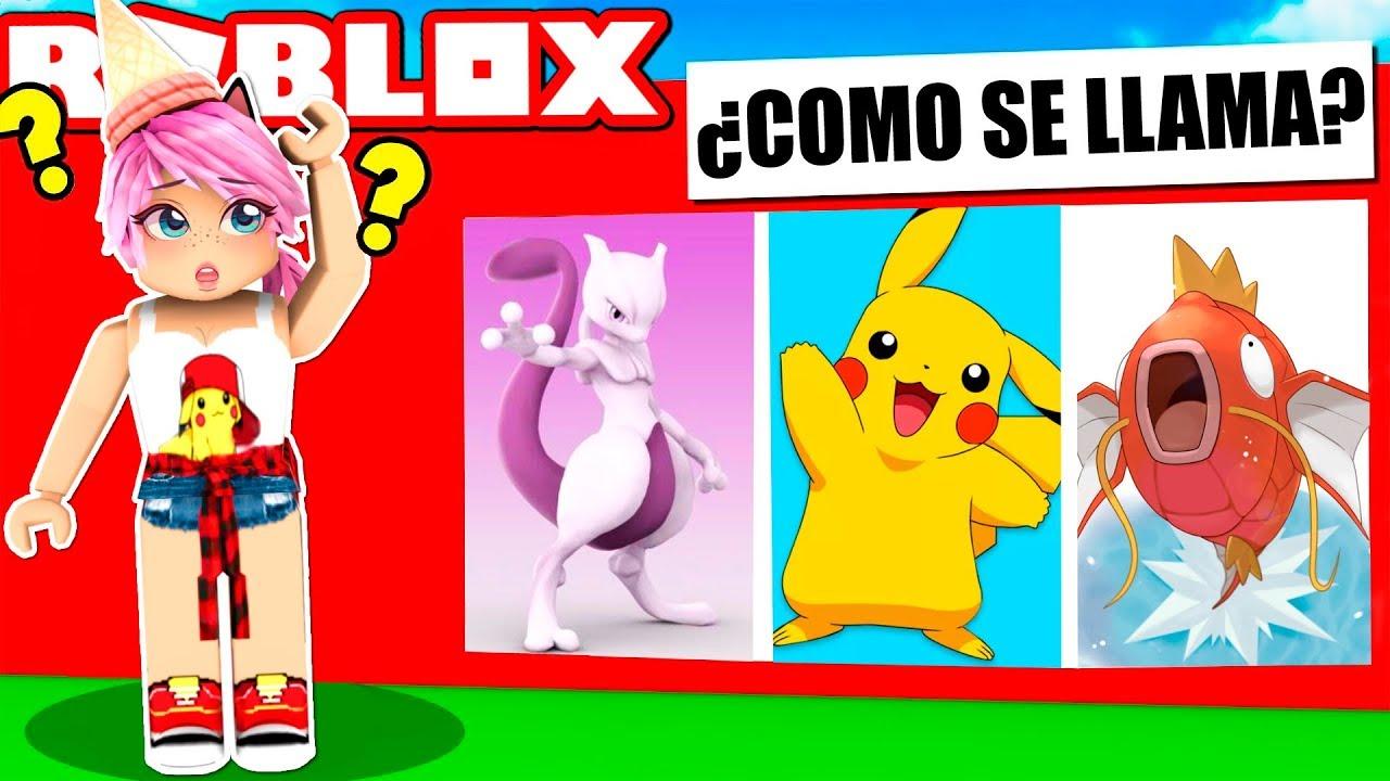 Roblox Famoso Pokemon Adivina Personaje En El 80PXwOkNnZ